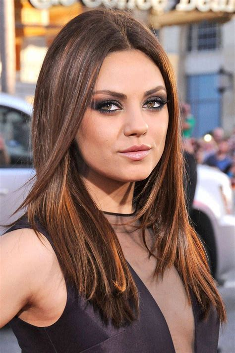 mila kunis hair color the best hair colors of the year colored hair