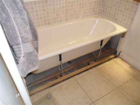 fitting bathroom cladding install wooden cladding bath panel 175cm x 54 cm