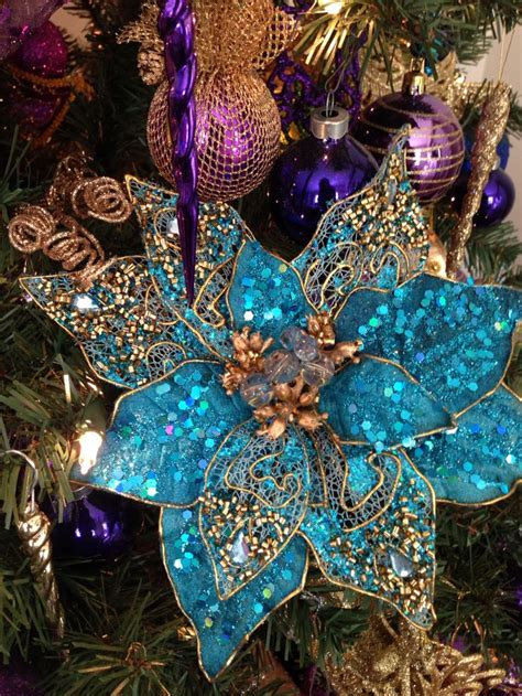 purple gold and teal christmas tree christmas