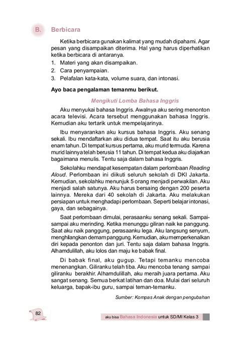 3 Senang Belajar Bahasa Indonesia Kelas Iii Sd Ktsp 2016 Yudhistira bahasa indonesia kelas 3 sd
