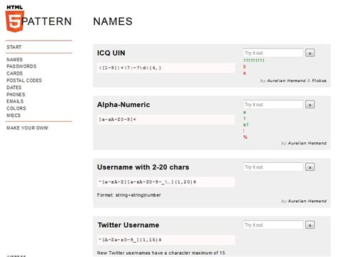Html5 Pattern Internet Explorer | expresiones regulares con html5 recursos web seo