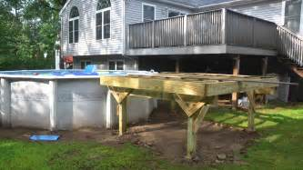 pool deck bauen deck build