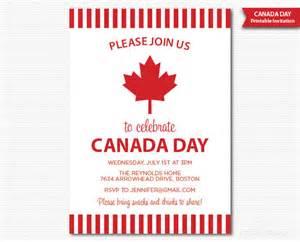 canada day invitation printable invitation canada day