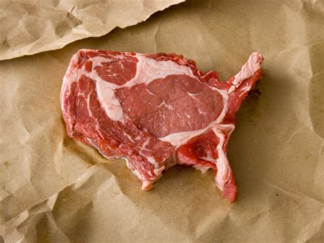 united steaks of america map if each state could have only one this artist uses meat as his medium arts culture