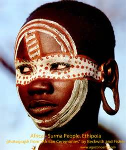 Africa surma people from the omo river area of ethiopia