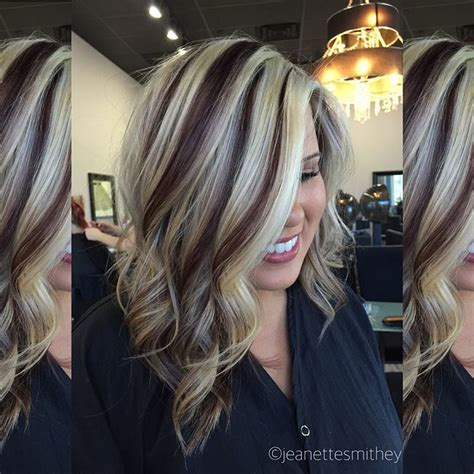 hair color with highlights and lowlights for black women dark brown and blonde highlight and lowlights hair