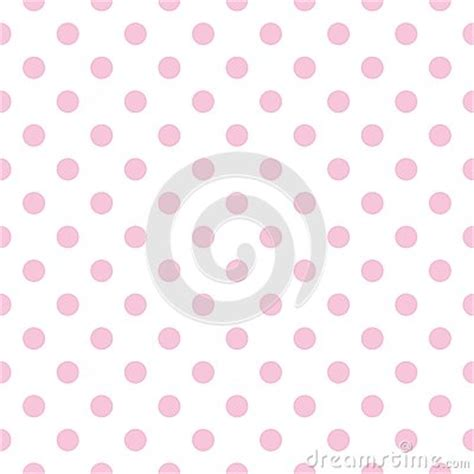 seamless polka dots patterns background pastel stock vector tile vector pattern with pink polka dots on white