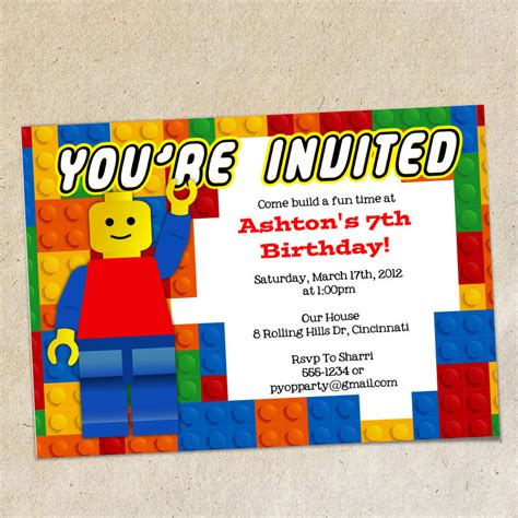 printable lego invitation cards chandeliers pendant lights