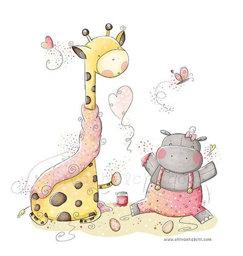 kinderzimmer bilder nilpferd kinder illustration kinderhort s 252 223 es baby nilpferd und