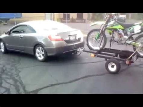 06 honda civic with hitch  pulling trailer awith dirt bike