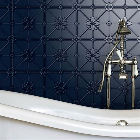 Pressed Tin Tiles Wall pressed metal look tiles are seriously great for a