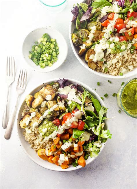 Make Ahead Detox Lunches by Make Ahead Detox Roasted Vegetable Quinoa Bowls Detoxinista
