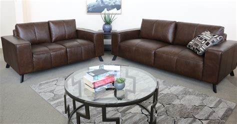 cannes   leather sofa pair affordable furniture