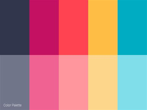 color palette color palette by vasil yordanov dribbble