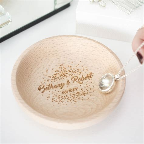 personalised couples wedding confetti ring dish by ellie
