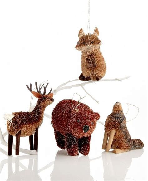 woodland animals christmas tree ornaments and christmas
