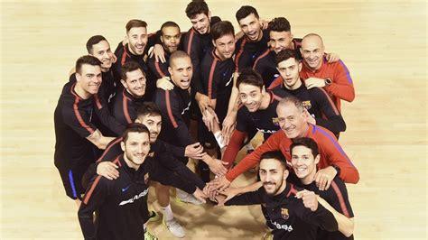 equipo futbol sala barcelona copa espa 241 a de f 250 tbol sala el bar 231 a inicia un buen proyecto