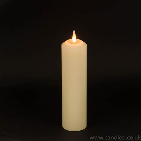 candele a led pillar candle led 12 quot x 3 quot diameter candled