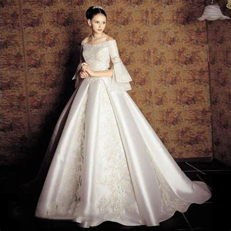 Vintage Satin Wedding Dresses by Luxury Princess Wedding Dresses With Sleeves 2016 Vintage