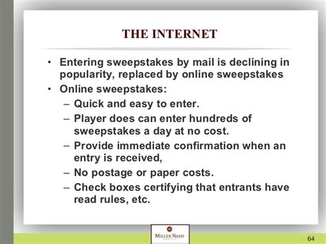 Sweepstakes By Mail - presentation on sweepstakes and contests