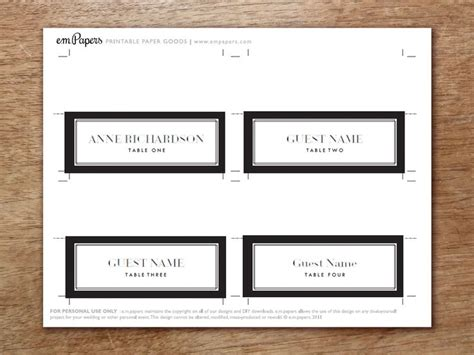 print your own place cards template 25 best printable place cards ideas on