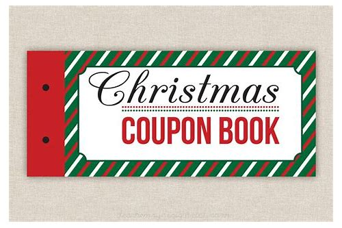 blank christmas coupons templates
