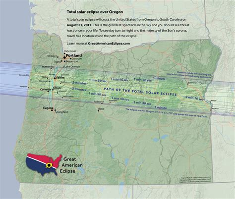 map of oregon total eclipse oregon great american eclipse of 2017