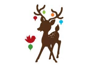 reindeer silhouette wall decal weedecor