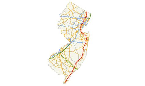 map of new jersey garden state parkway garden state parkway