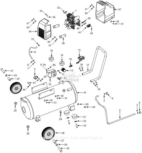 cbell hausfeld hu5000 parts diagram for air compressor parts