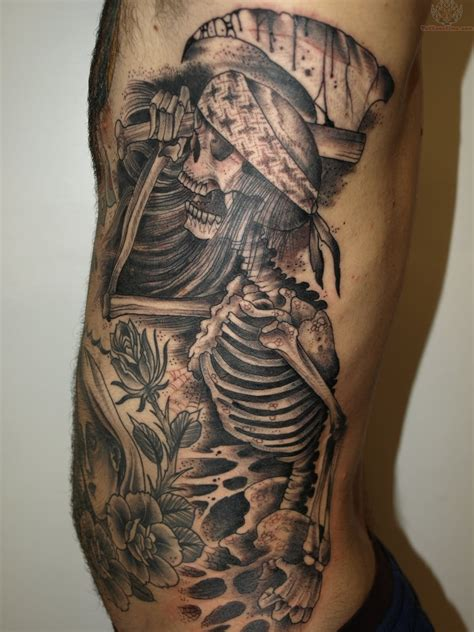 black ink tattoos black ink skeleton