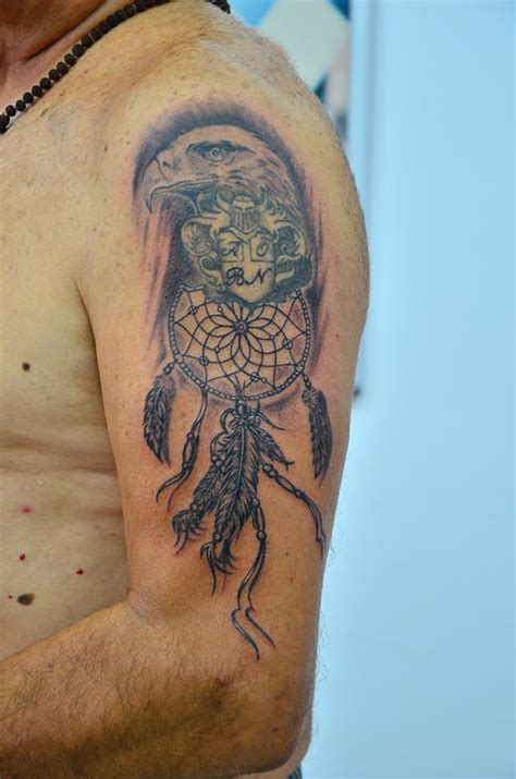 dreamcatcher tattoos on arm indian eagle dreamcatcher arm