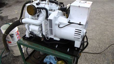 electric boat work hours kohler marine generator 6 5 esz with 110 hours youtube