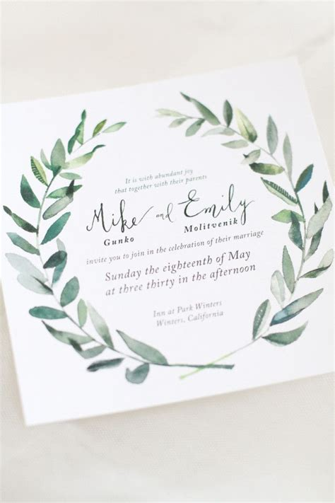 Hip Wedding Invitation Wording by Hip Green California Wedding Green Weddings California