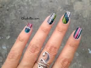 Nail art design chickettes soak off gel polish swatches nail art