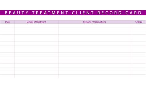 client card template new treatment consultation client record cards ebay