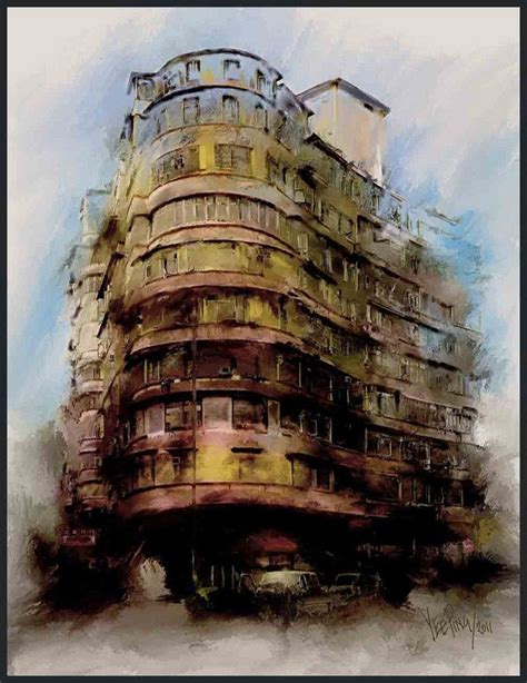 building painting watercolor paintings of old buildings members