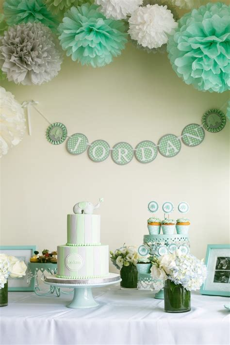 boy baby shower colors 25 best ideas about mint baby shower on polka
