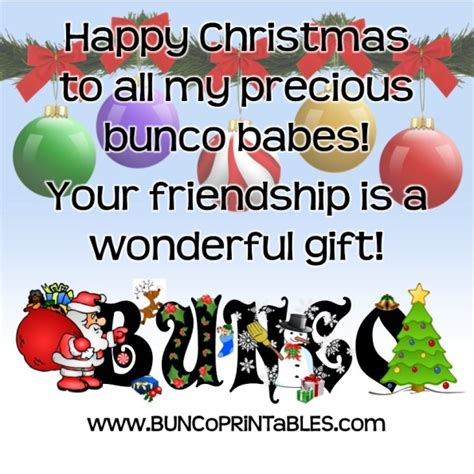 happy christmas bunco bunco printables