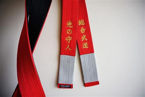 Korean Satin Flo japanese kanji in gold the belt is satin with front