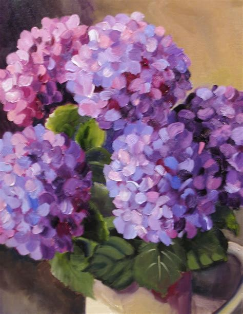 nel s everyday painting triple hydrangeas and a lesson sold nel s everyday painting 6 27 10 7 4 10 art flower