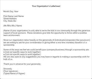 Sle Donation Request Letter Youth Football How To Get Team Sponsorships Fundraising Team And Cheer
