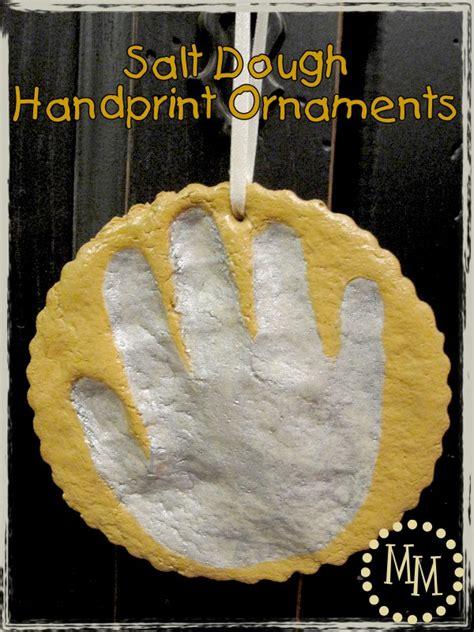 handprint rubber st salt dough handprint ornaments the scrap shoppe