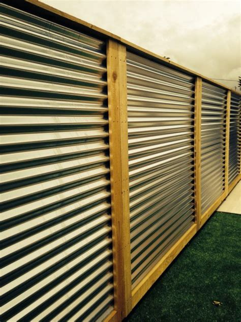Corrugated Metal Cladding Best 25 Metal Fence Panels Ideas On Metal