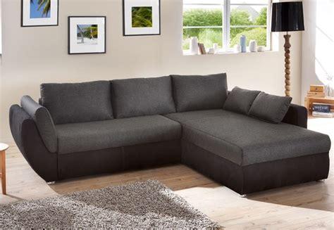 job couch ecksofa couch tifon 272x200cm schwarz bettfunktion