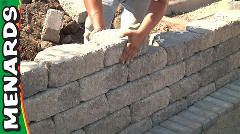 Building A Wall retaining wall how to build menards youtube