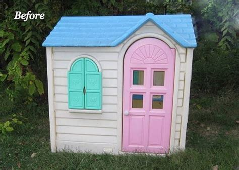 tikes playhouse yellow with roof she gets an playhouse cheap at a yard sale a few