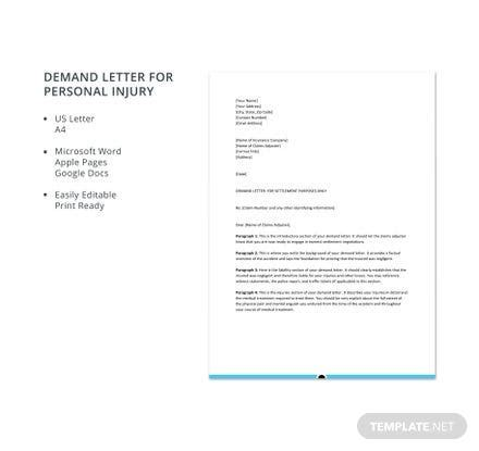 demand letter personal injury template