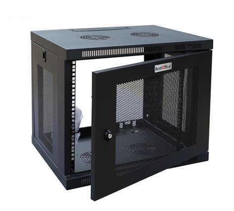new 6u wall mount rack enclosure server cabinet door sides