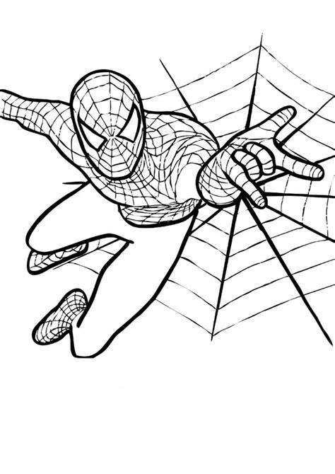 printable children s pictures to colour free printable spiderman coloring pages for kids